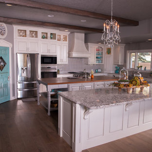 Kitchen Transformation - European old world style, blends touches of shabby chic