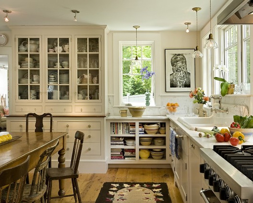 Farmhouse Kitchen Design Ideas wall mounted glass door cabinets with old farmhouse kitchen designs kitchen designs photos soft white granite countetop white tile ceramic backsplash unique Saveemail