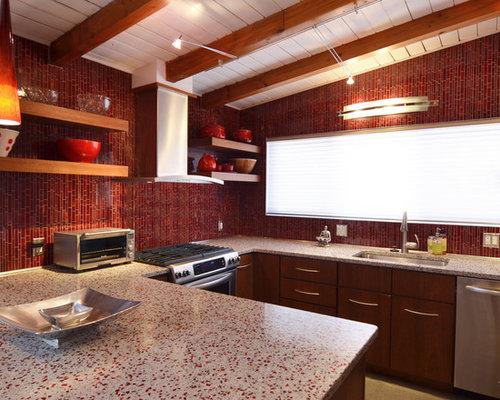 Countertop Dishwasher Hong Kong : Red Tile Backsplash Home Design Ideas, Renovations & Photos