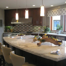Contemporary Kitchen by Vero Italian Plaster