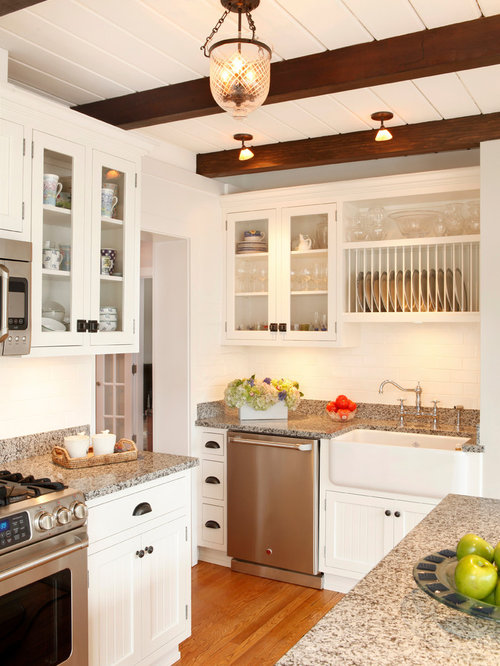 Inspiration For A Small Timeless Single Wall Medium Tone Wood Floor And  Brown Floor Eat
