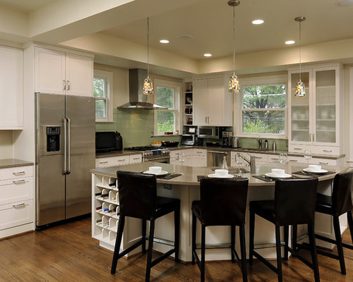 curved kitchen island houzz dark island white cabinets houzz