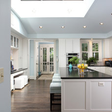 transitional kitchen by AHMANN LLC