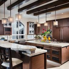 Contemporary Kitchen by W.A. Bentz Construction, Inc.