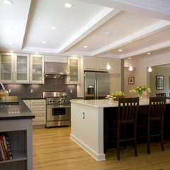 contemporary kitchen kitchen w/ large island