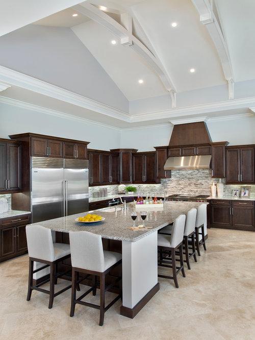 Miami Kitchen Design Ideas Renovations Photos With Dark Wood Cabinets