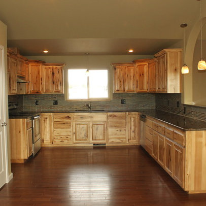 Knotty Hickory Cabinets Home Design Ideas, Pictures, Remodel and Decor