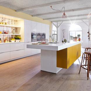 kitchen white and yellow