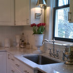 White Shaker Ikea Kitchen Contemporary Kitchen
