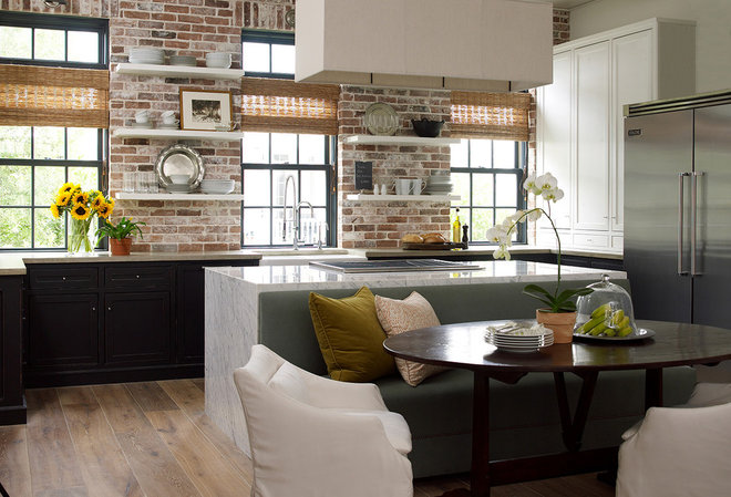 Transitional Kitchen by Windstone Partners