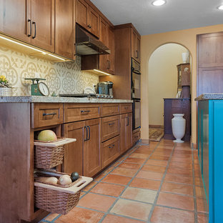 Kitchen with a Turquoise Island