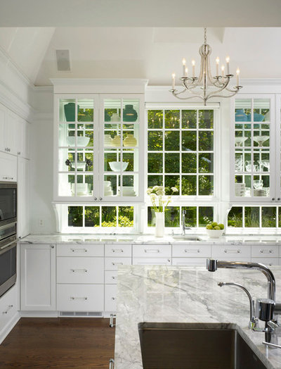Frentes de cristal a ade luminosidad y amplitud a la cocina - Vitrinas de cocina ...