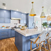 Kitchen of the Week: Blue Cabinets and Coastal Style on the Water