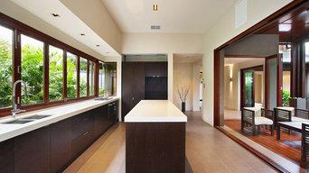 Kitchen with Bifold windows & bifold doors