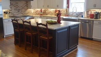 Kitchen With Brick Work