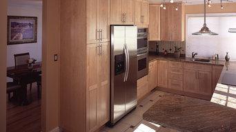 Kitchen with corner window