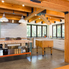 Industrial Kitchen by Tall Pines Construction