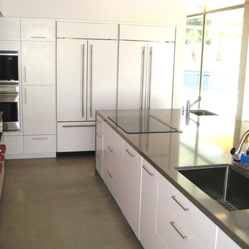 Kitchen with Dual Built-in Refrigerators