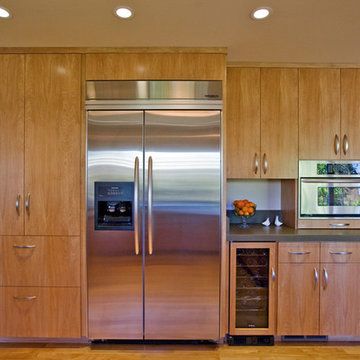 kitchen with european-style cabinetry made by Bill Fry Construction