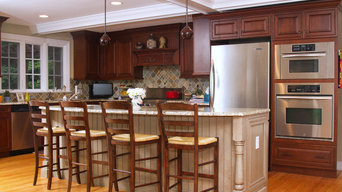 Kitchen with Granite Countertops, Breakfast Bar Island, Crown Moulding Paneled C