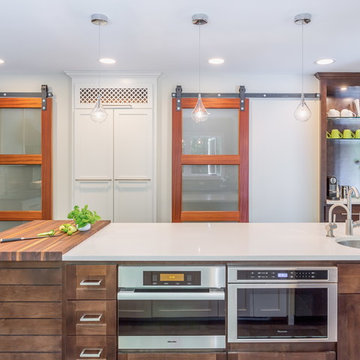 kitchen with industrial touches