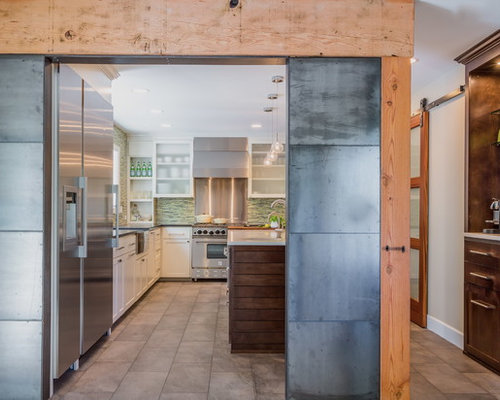 ... Raw Steel | Houzz On Raw Steel Cabinets, Raw Steel Tables, Brushed Steel  Kitchen ...