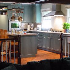 Transitional Kitchen by Maggie McManus Kitchens & Baths