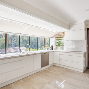 Kitchen with Lexicon Quarter Poly doors