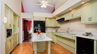Kitchen with lifts in UP position AFTER