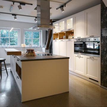 kitchen with luminous wallunits