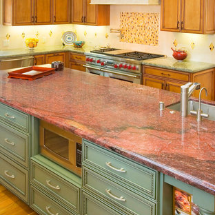 Kitchen with Painted Island