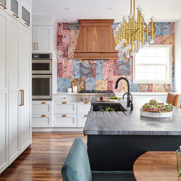 Kitchen with Paisley Tiles