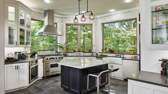 Kitchen with panoramic views
