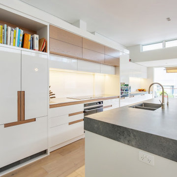 Kitchen with Rugged Concrete Benchtops