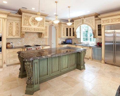 Mediterranean u shaped kitchen idea in other with an undermount sink - Best Decorative Corbels Design Ideas Amp Remodel Pictures