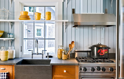 Kitchen Sinks: Slate Surfaces Rock for Strength and Style