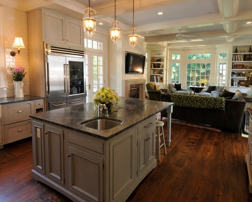 Keeping room off kitchen home design ideas pictures for 15 x 9 kitchen layouts