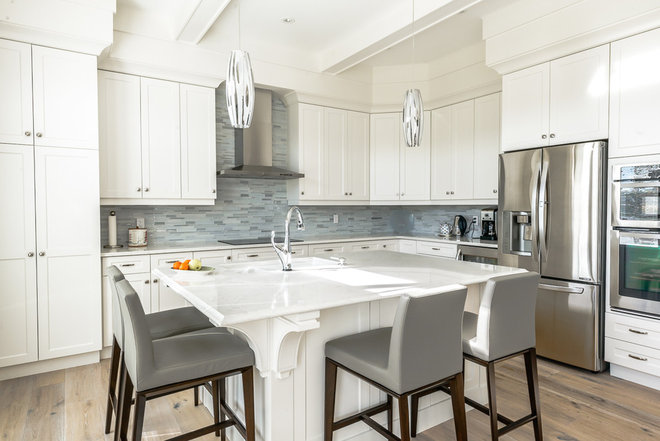 Transitional Kitchen by DF Design Build