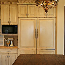 Mediterranean Kitchen by Handcrafted Cabinet Cabinet and Furniture Company