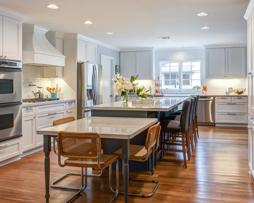 kitchen islands with tables attached table attached to island home design ideas pictures 24857