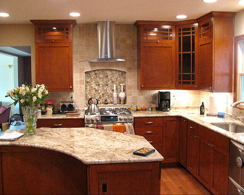 Granite Countertops Maple Cabinets | Houzz on Maple Cabinets With White Granite Countertops  id=80183