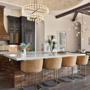 75 Beautiful Mediterranean Kitchen With Mosaic Tile Backsplash Pictures Ideas January 2021 Houzz