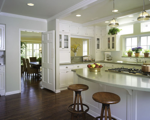 curved kitchen island counter | houzz