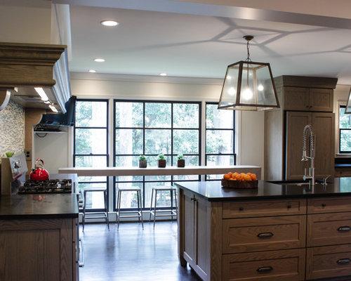 Limed oak cabinets houzz for Cerused oak kitchen cabinets