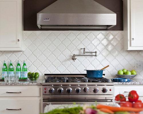 beveled arabesque tile houzz