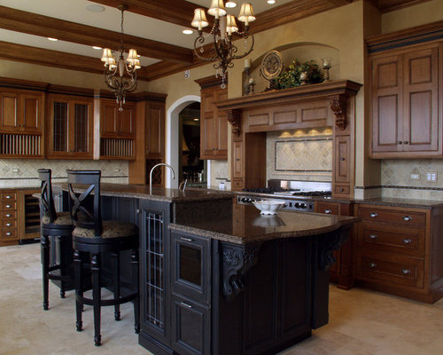 Kitchen Design Ideas Renovations Photos With Dark Wood Cabinets
