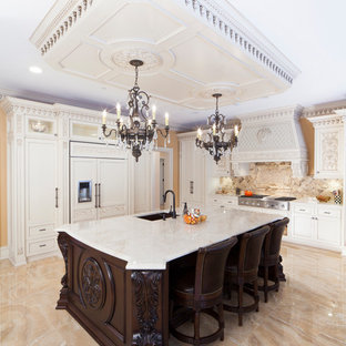 Traditional Kitchen Remodeling   Kitchen   Traditional L Shaped Beige Floor  Kitchen Idea In New