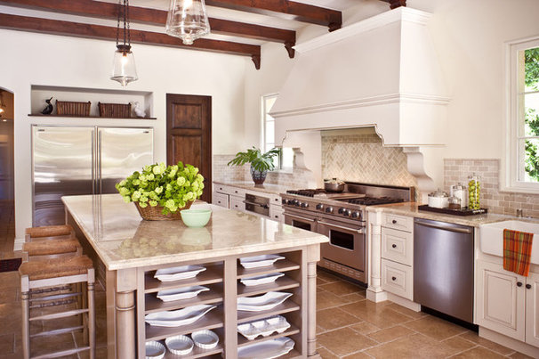 Mediterranean Kitchen by Christopher Gaona Design Studio