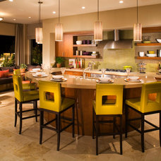 Transitional Kitchen by Christopher Homes