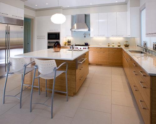 flat panel kitchen cabinets houzz. Black Bedroom Furniture Sets. Home Design Ideas